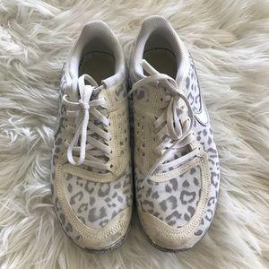 White cheetah nikes